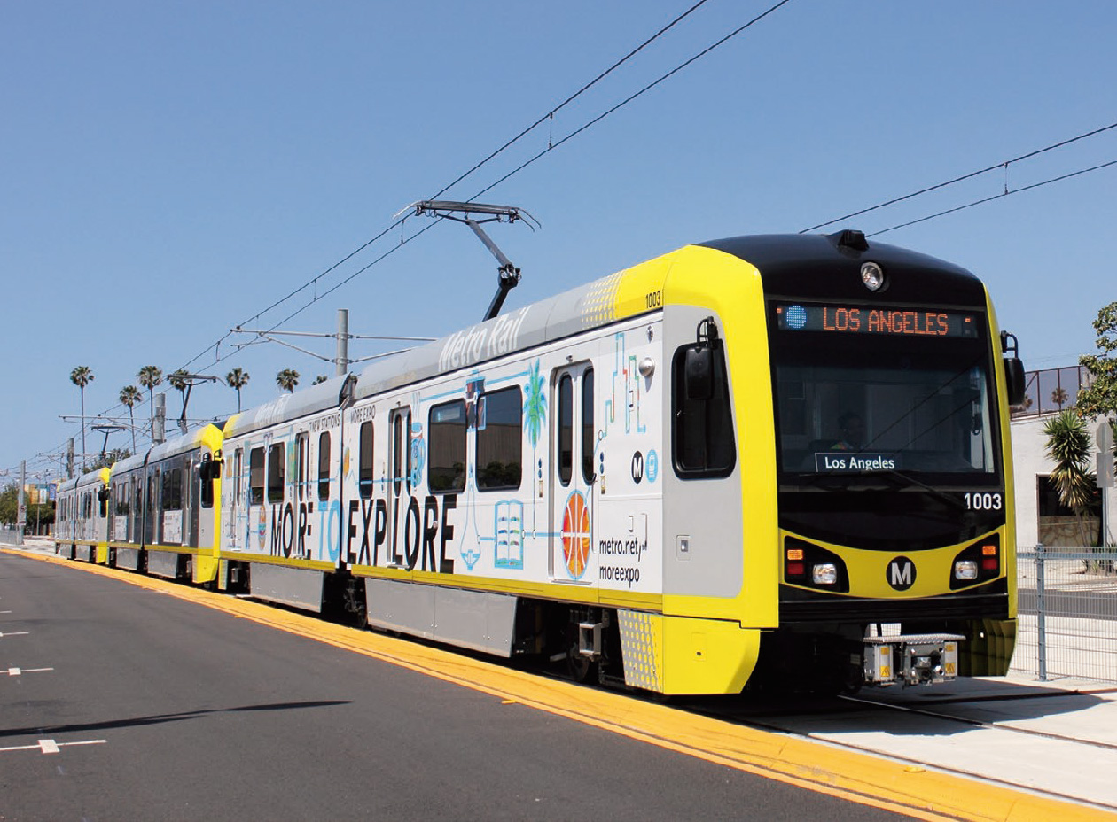 High-Floor LRV Type P3010 for Los Angeles County Metropolitan Transit Authority, U.S.A.