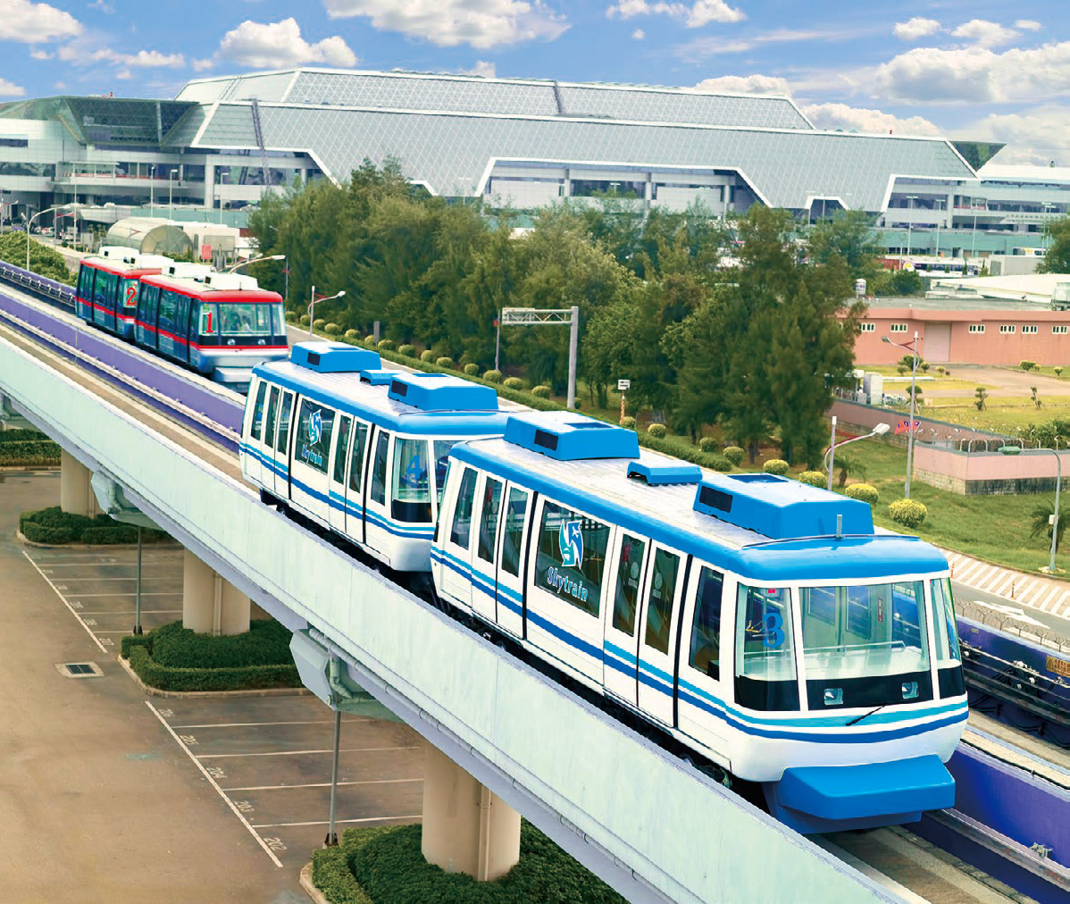 "PMS (People Mover System) called ""Skytrain"" which runs in Taiwan Taoyuan International Airport"